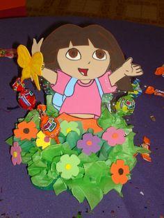 Otro diseño de centro de mesa de Dora la exploradora