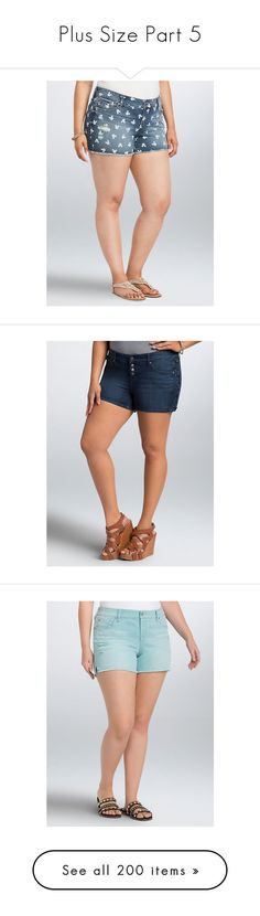 """""""Plus Size Part 5"""" by chrissy-cdm ❤ liked on Polyvore featuring shorts, micro shorts, plus size hot shorts, patterned shorts, hot short shorts, mickey mouse shorts, sexy micro shorts, sexy mini shorts, hot pants and sexy jean shorts"""