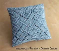 Irregardless Pattern 14 Crochet Square Pillow от okihirodesigns