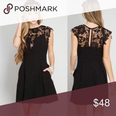 ♥️HOLIDAY DRESS♥️ Mini Lace Little Black Dress LBD Beautiful black lace dress for any event! Perfect for weddings, dinners, work events, etc! Small fits 2-4, medium 6-8, large 10-12. Dresses Mini