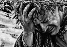 A moment of despair by Fantaasiatoidab on deviantART ~ Samwise Gamgee ~ LOTR