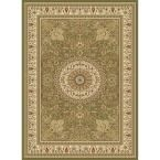 Williams Collection Tabriz Green 7 ft. 10 in. x 10 ft. 10 in. Area Rug
