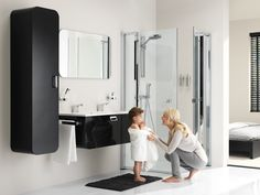 Ontario zwart: design badkamer met een retro tintje