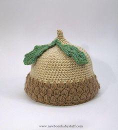 Crochet Baby Hats Acorn baby hat handmade crochet baby hat. By jarg0n on Etsy ...