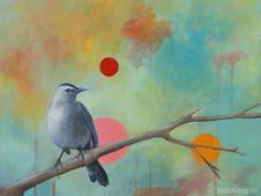 Pretty Bird by Milwaukee artist Bridget Griffith Evans.