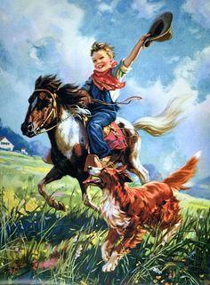 Cowboy Riding His Pony Digital Art Downloadable by naturepoet, $5.00