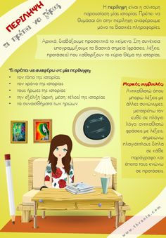 Τι πρέπει να ξέρω για την περίληψη; Speech Therapy Activities, Language Activities, Writing Activities, Vocabulary Exercises, Grammar Exercises, Secondary School, Primary School, Learn Greek, Greek Language