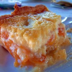 German Apricot Rahm Kuchen (Cream Cake)