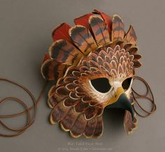 Fantasy Red-Tailed Hawk - Leather Mask by Brenda Lyons - Falcon Moon Studio