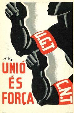 Spain - 1936-39. - GC - poster - UGT / CNT