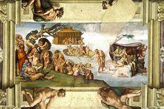 Cuadro: Diluvio Universal // Autor: Miguel Ángel // Antiguo Testamento
