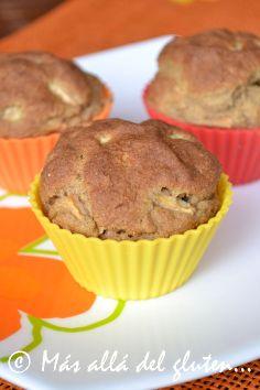 Más allá del gluten...: Muffins Con Manzana y Canela (Receta GFCFSF, Vegana)