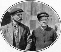 "Mr Threlfall, Leading Stoker on the Titanic, (left) later gave evidence that he saw the closing of the water-tight doors, and how Captain Smith, at the last, gave the command ""Every man for himself."" He said he saw Captain Smith go down with his ship. (Topham/Topham Picturepoint/PA Images)"