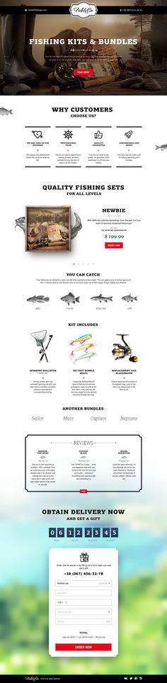 Fish&Go Landing page.