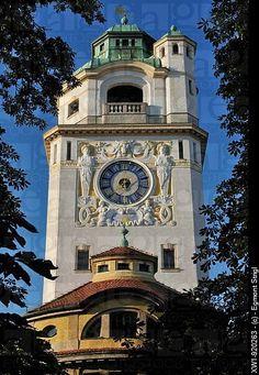 Art Deco clock tower Munich, Germany | Clocks & Watches | Pinterest