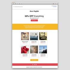 mmailchimp responsive email template email newsletters pinterest
