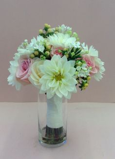 Pink And White Bridal Bouquet By Nancy At Belton Hyvee Wedd Flowers