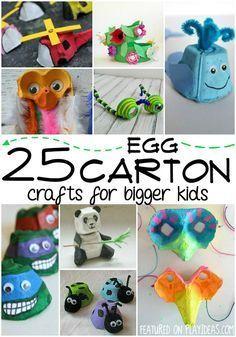 25 Egg Carton Crafts for Bigger Kids