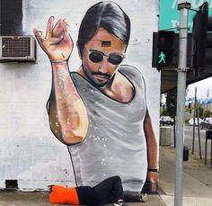 Nusret'in Avusturalya'da Graffitisi yapılmış