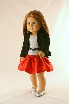 American Girl Doll Clothes Holiday Skirt by Forever18Inches