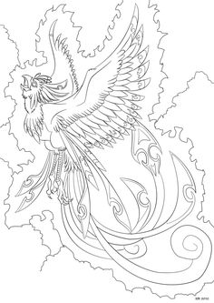 Adult Coloring Pages Phoenix Free - Coloring For Kids 2019 Detailed Coloring Pages, Bird Coloring Pages, Adult Coloring Book Pages, Mandala Coloring, Printable Coloring Pages, Free Coloring, Coloring Pages For Kids, Coloring Sheets, Coloring Books