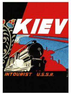 Vintage Travel Posters / Kiev - Intourist - U.S.S.R. http://www.flickr.com/photos/paulmalon/6317227092/in/set-72157622068072145