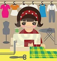 curso corte e costura - Trend Ideas Sewing Lessons, Sewing Hacks, Sewing Projects, Futon Covers, Love Sewing, Free Vector Art, Sewing Techniques, Diy Clothes, Illustration