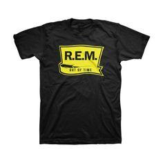 R.E.M. Out of Time Men's Black Shirt