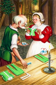 Tiny clothes - Elves and the Shoemaker - Robert Lumley - Ladybird Book - I had this book, I still think it was beautifully drawn.