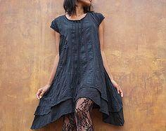 Artistic collection...Sakura branch pleated tunic/ dress good