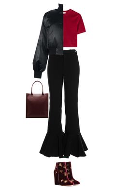 """5.132"" by katrina-yeow ❤ liked on Polyvore featuring DKNY, Dr. Martens and Aquazzura"