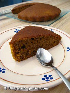 Recette Halloween sans gluten: moelleux-fondant au potimarron (sans gluten, sans lait, sans oeuf)
