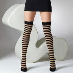 "\\\""Gipsy Striped Over The Knee Socks\\\"""