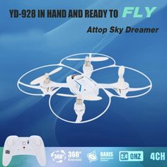 Original Attop Sky Dreamer YD-928 2.4GHz 4CH 6-Axis Gyro RTF RC Quadcopter UFO Drone with 360 Degree Eversion