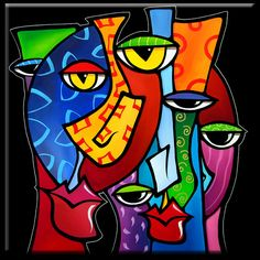 Artist: Thomas Fedro                                              Title: Huddle Up                                              Size: 30 x 30                                              Media: Acrylic                                              Support: Stretched Canvas