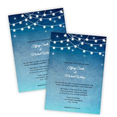 Wedding Invitation  Lights at Night  DIY Printable by AJsPrints