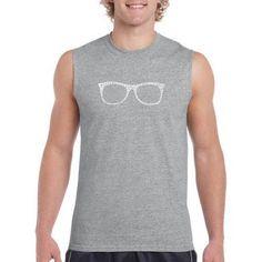 Los Angeles Pop Art Big Men's Sleeveless T-Shirt - Sheik To Be Geek, Size: 2XL, Gray
