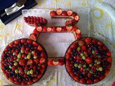 bicycle fruit cake