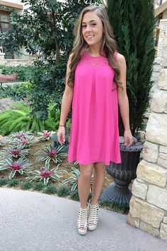 Janna Dress in Pink - Catch Bliss Boutique