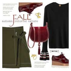 """""""Fall Fashion:Street Style"""" by metisu-fashion ❤ liked on Polyvore featuring STELLA McCARTNEY, Steven by Steve Madden, polyvoreeditorial, polyvoreset and metisu"""