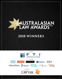 2018 Australasian Law Awards winners eMag