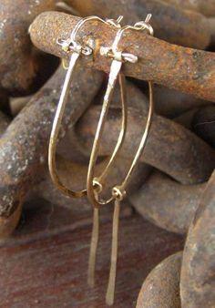Hoop Earrings, handmade, 14K gold filled