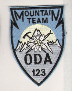 Mountain Team ODA 123 Special forces Army Patch Special Forces Army, Special Operations Command, Army Patches, Green Beret, Morale Patch, Patch Design, Embroidery Patches, Badge, Viking Life