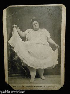 1910 FAT PEOPLES CONVENTION postcard...this is real lmao