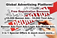 Adverise your business for FREE! Advertising, Ads, Presentation, Banner, Business, Free, Banner Stands, Store, Business Illustration