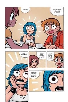 Scott Pilgrim Vol. 5 (of Scott Pilgrim vs. Scott Pilgrim Comic, Bryan Lee O Malley, Arrow Tv Shows, Ramona Flowers, Read Comics Online, Chibi, Vs The World, Figure Drawing Reference, Funny Art