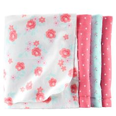 Might as well get the coordinating receiving blankets to go with the swaddles, right? 4-Pack Receiving Blankets | Carters.com