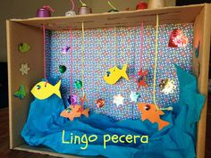 hacer una pecera con cajas de zapatos, manualidades, DIY Summer Crafts, Fun Crafts, Diy And Crafts, Craft Activities For Kids, Infant Activities, Diy For Kids, Crafts For Kids, Cardboard Toys, Art N Craft
