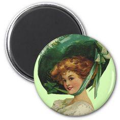 Irish Girl in Green Magnet