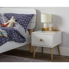 Buy Argos Home Bodie White Bedside Cabinet Bedside Tables argos home inspiration - Home Inspiration Drawer Handles, Wooden Handles, Bedroom Furniture, Home Furniture, Kids Bedside Table, White Bedside Cabinets, Home Entertainment, Kids House, Solid Wood